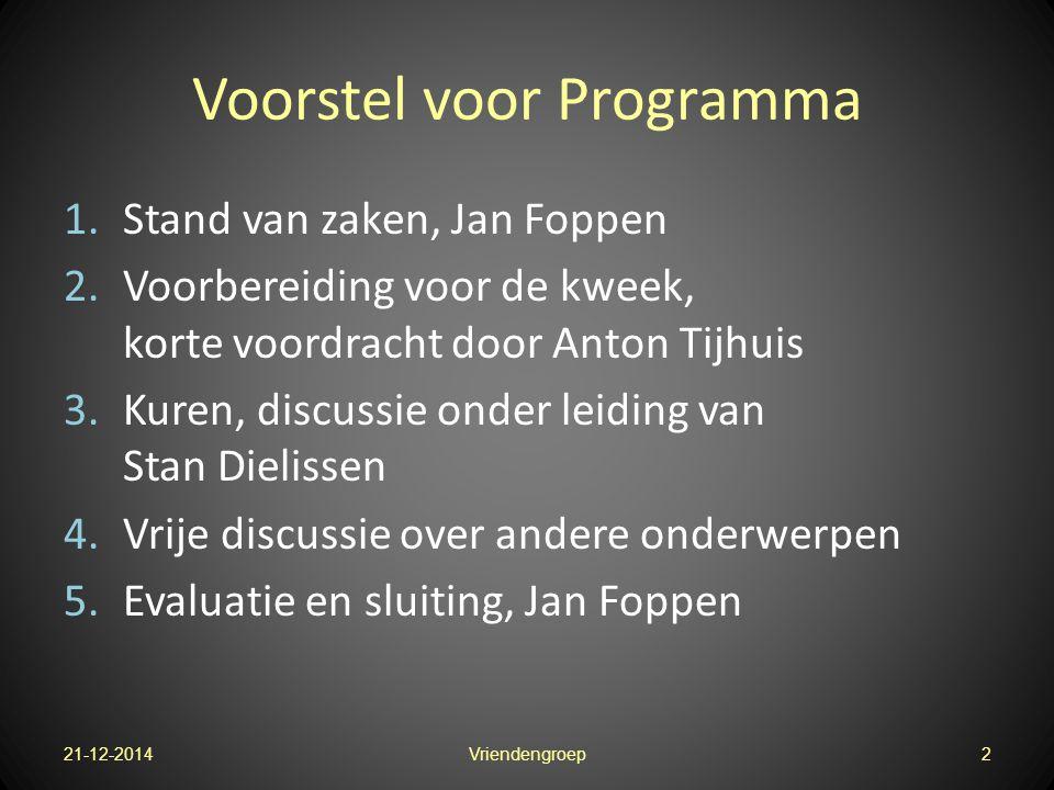Voorstel voor Programma