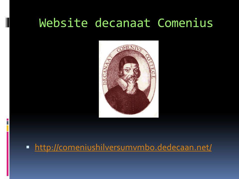 Website decanaat Comenius