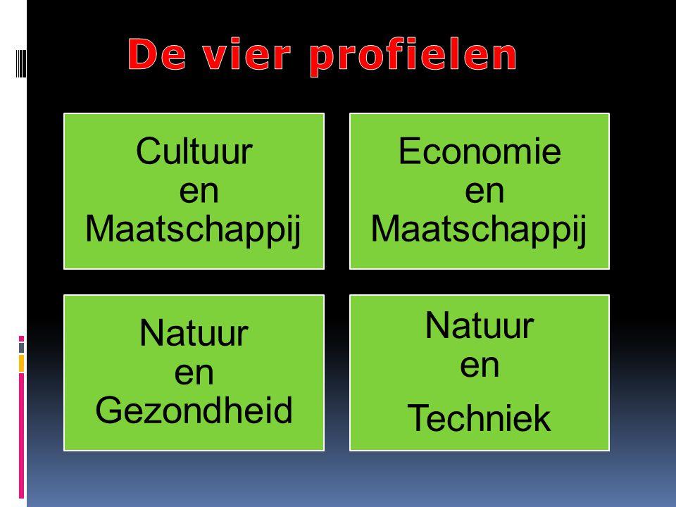 De vier profielen Cultuur en Maatschappij Economie en Maatschappij