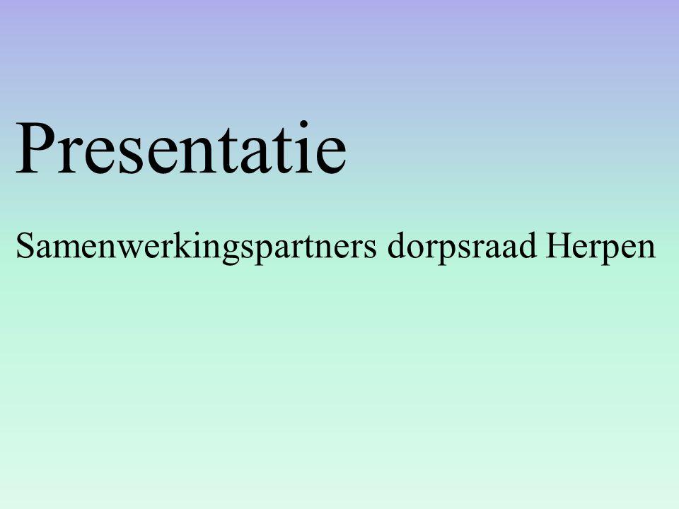 Presentatie Samenwerkingspartners dorpsraad Herpen