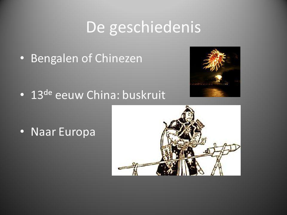 De geschiedenis Bengalen of Chinezen 13de eeuw China: buskruit