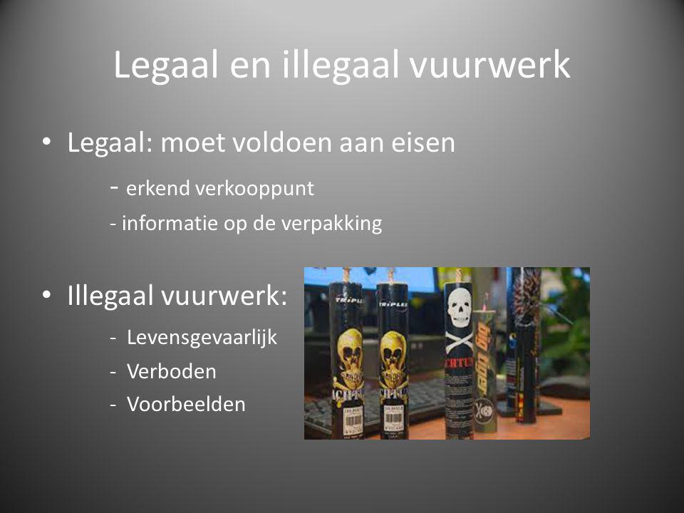 Legaal en illegaal vuurwerk
