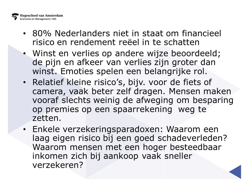 80% Nederlanders niet in staat om financieel risico en rendement reëel in te schatten