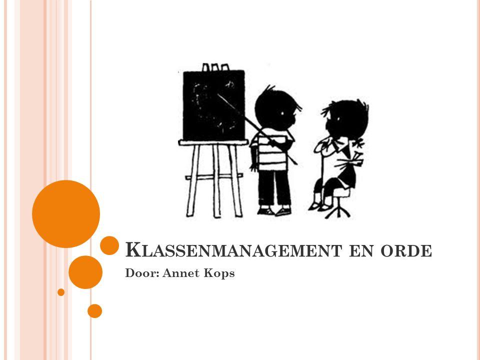 Klassenmanagement en orde