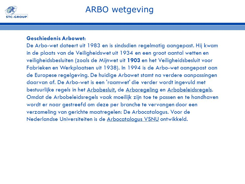 ARBO wetgeving