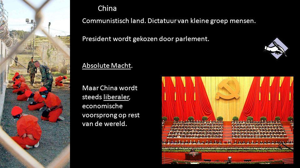 China Communistisch land. Dictatuur van kleine groep mensen.