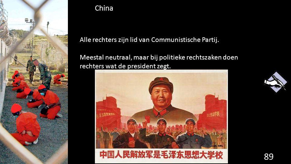 China Alle rechters zijn lid van Communistische Partij.