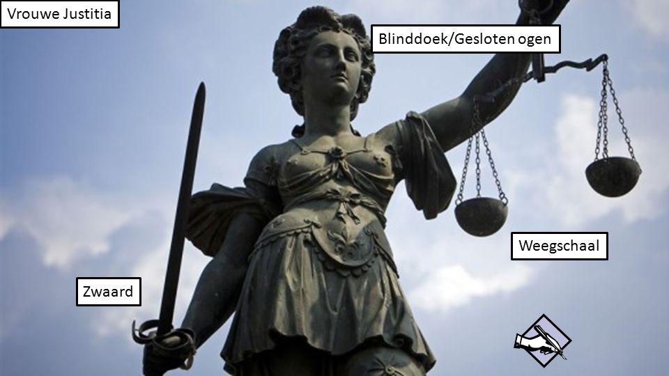 Vrouwe Justitia Internationaal Recht: Voor landen onderling: internationaal gerechtshof/strafhof, oorlogstribunalen.