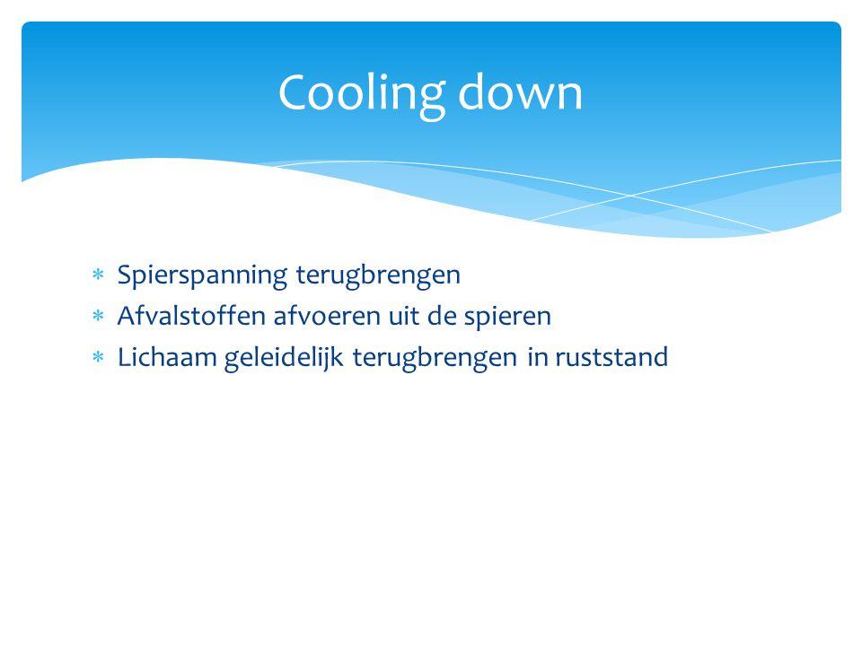 Cooling down Spierspanning terugbrengen