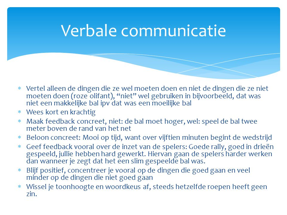 Verbale communicatie