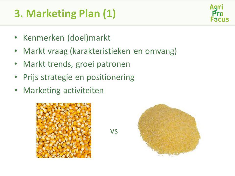3. Marketing Plan (1) Kenmerken (doel)markt