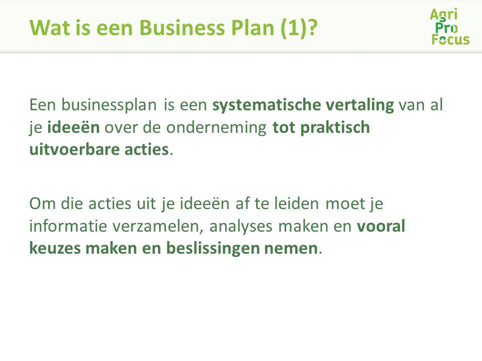 Wat is een Business Plan (1)