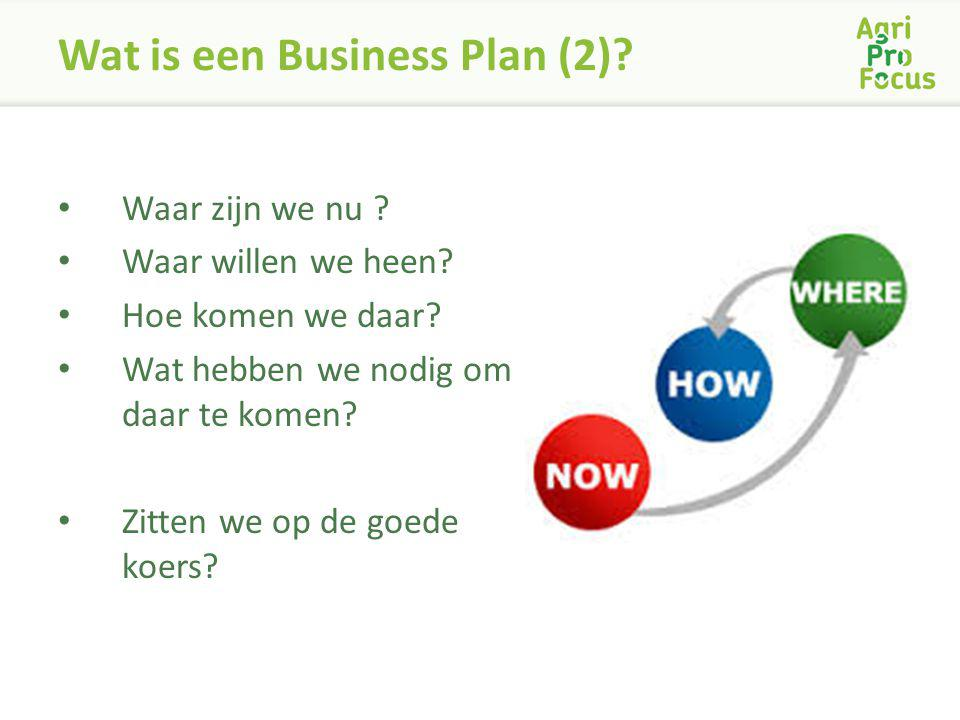 Wat is een Business Plan (2)