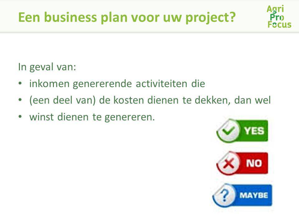 Een business plan voor uw project