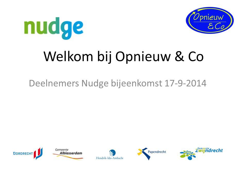 Deelnemers Nudge bijeenkomst 17-9-2014