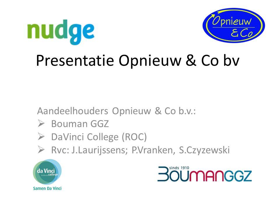 Presentatie Opnieuw & Co bv