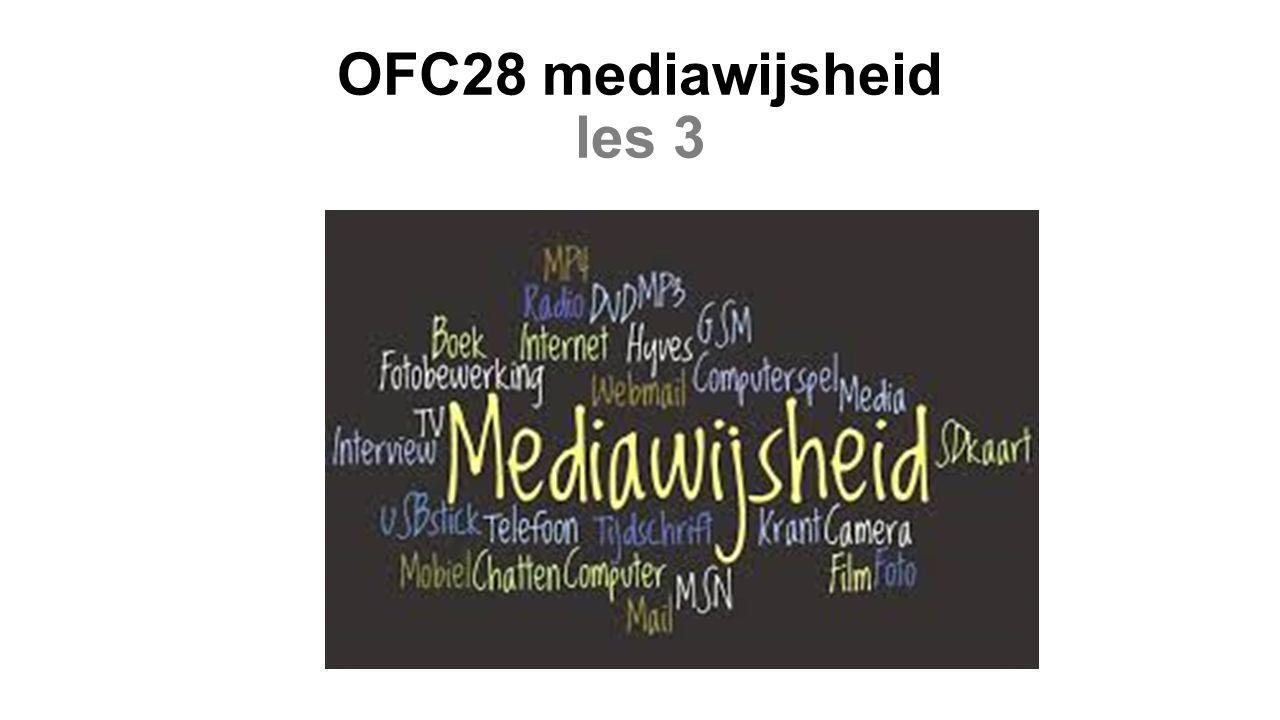 OFC28 mediawijsheid les 3