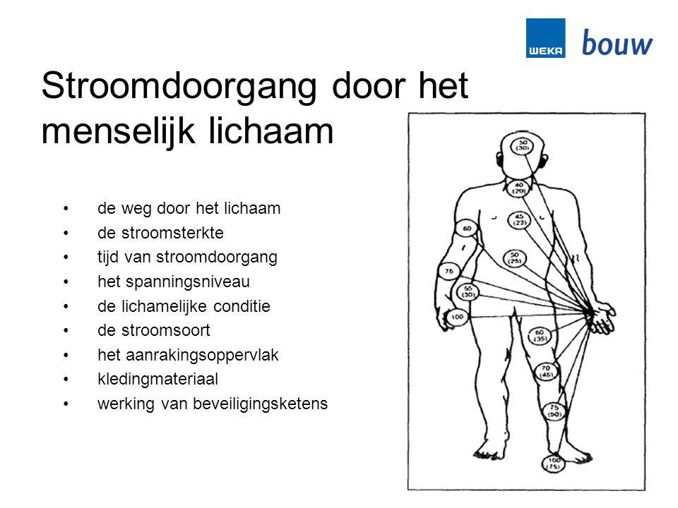 Stroomdoorgang door het menselijk lichaam