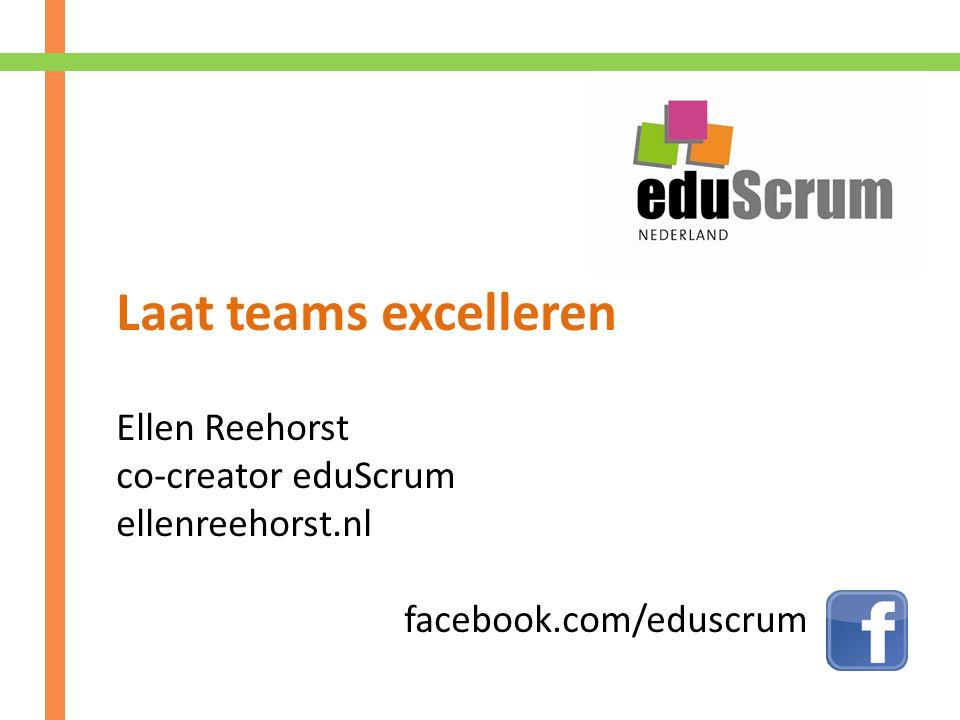 Laat teams excelleren Ellen Reehorst co-creator eduScrum