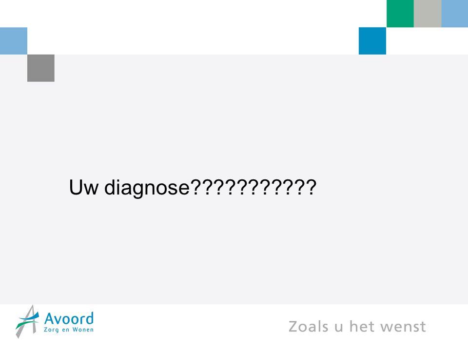 Uw diagnose