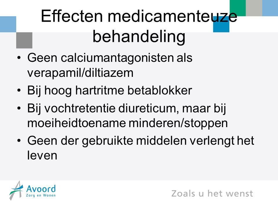 Effecten medicamenteuze behandeling