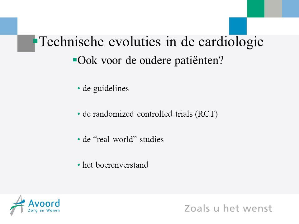 Technische evoluties in de cardiologie