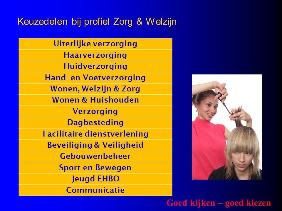 Keuzedelen bij profiel Zorg & Welzijn
