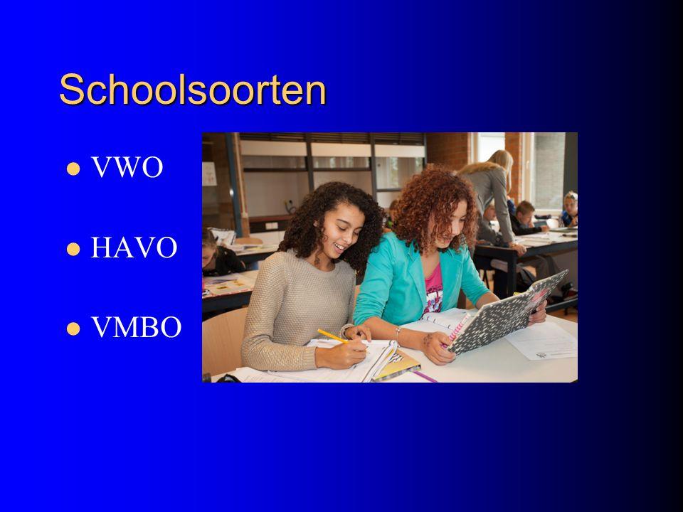 Schoolsoorten VWO HAVO VMBO