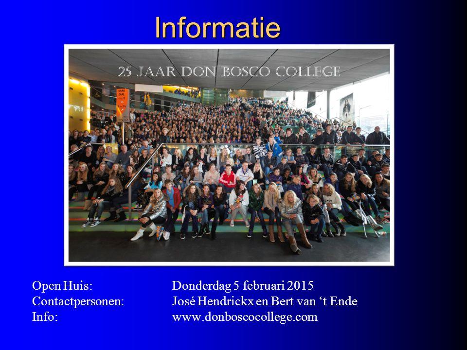 Informatie Open Huis: Donderdag 5 februari 2015