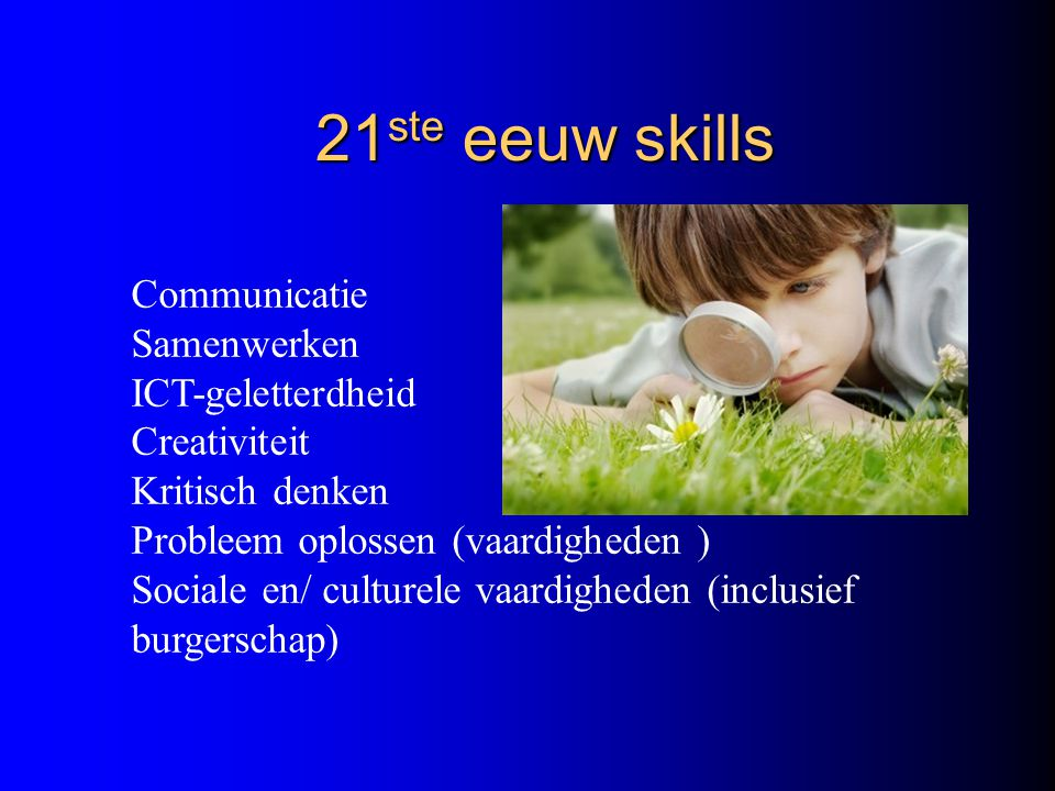 21ste eeuw skills Communicatie Samenwerken ICT-geletterdheid