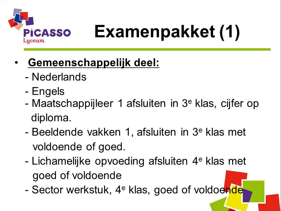 Examenpakket (1) Gemeenschappelijk deel: - Nederlands