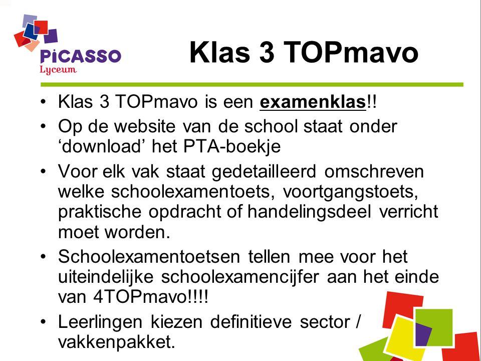 Klas 3 TOPmavo Klas 3 TOPmavo is een examenklas!!