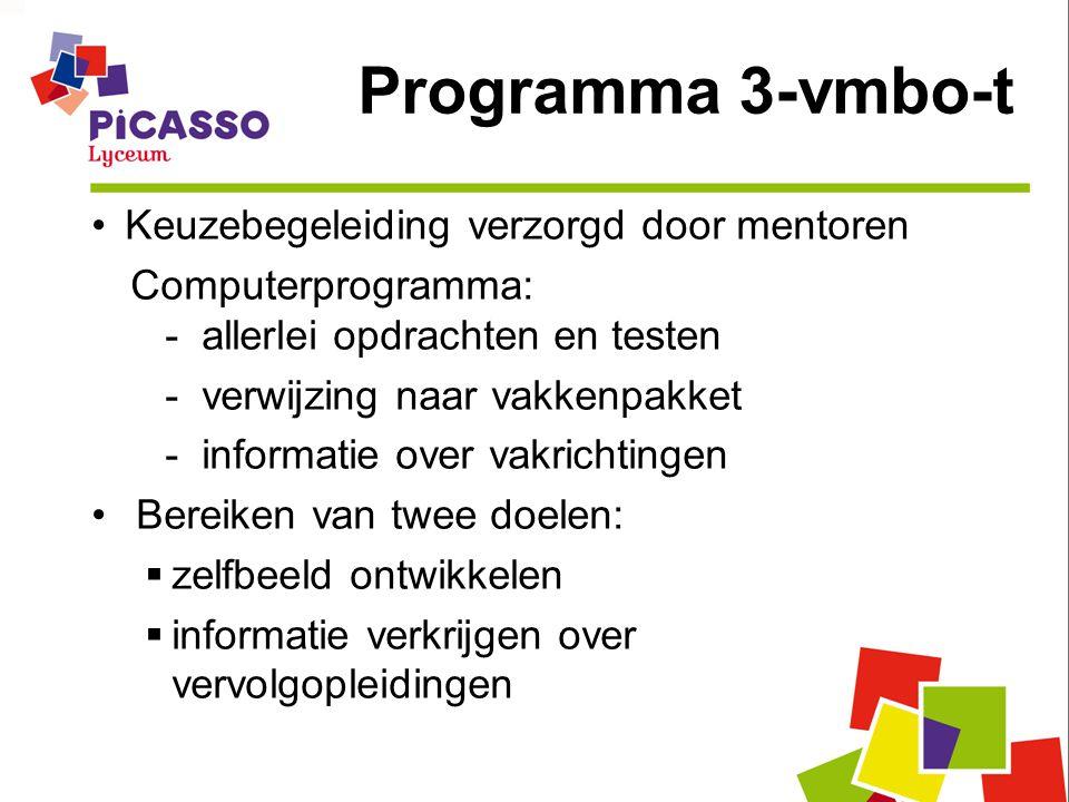 Programma 3-vmbo-t Keuzebegeleiding verzorgd door mentoren