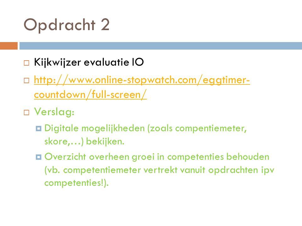 Opdracht 2 Kijkwijzer evaluatie IO