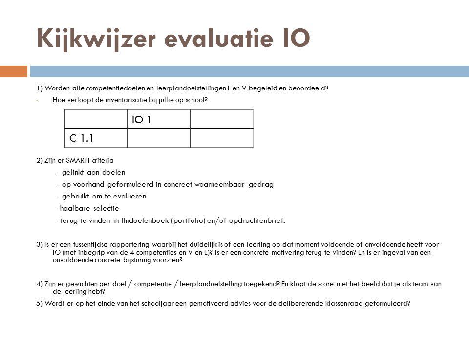 Kijkwijzer evaluatie IO