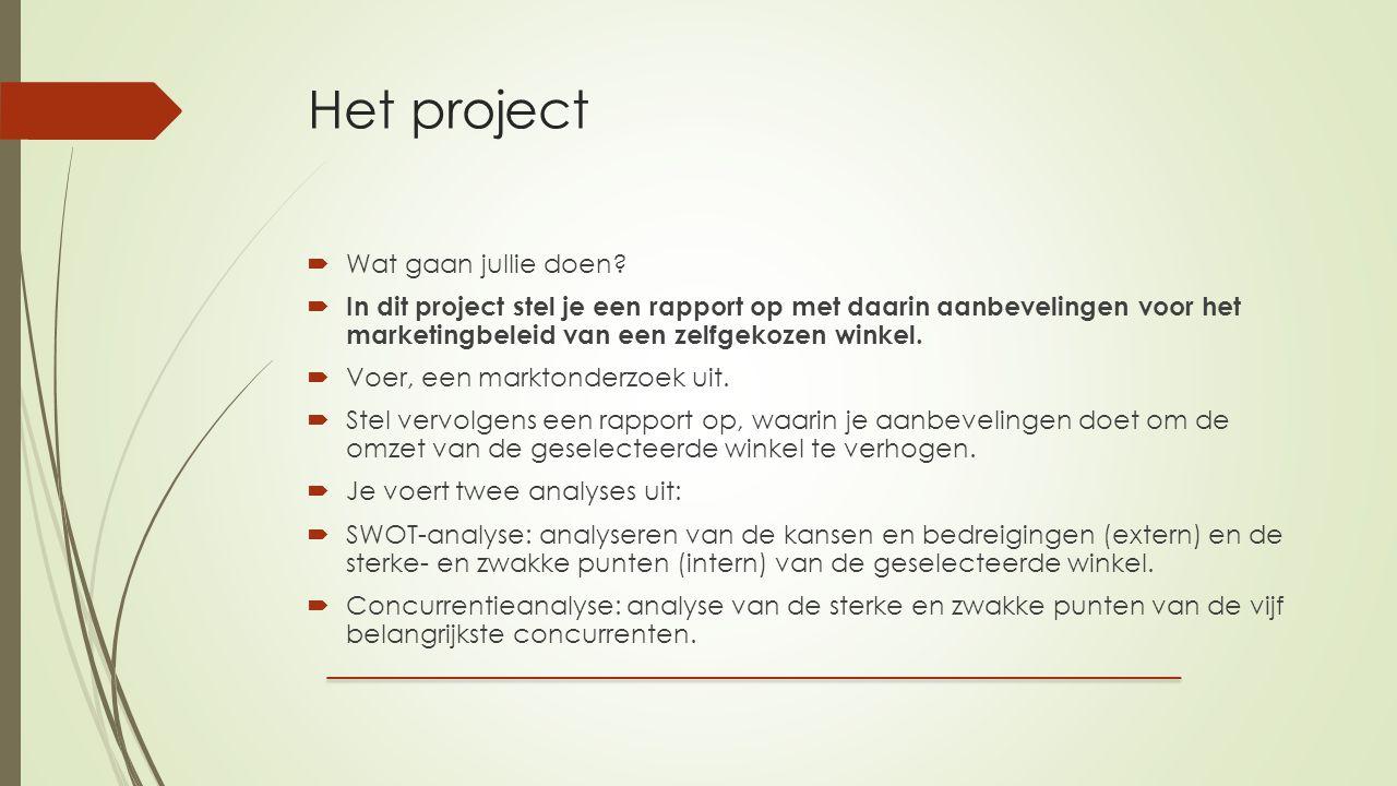 Het project Wat gaan jullie doen