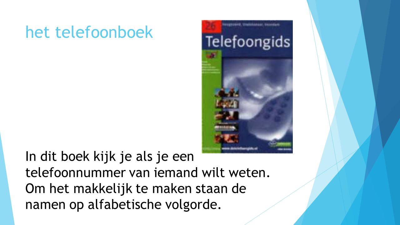 het telefoonboek