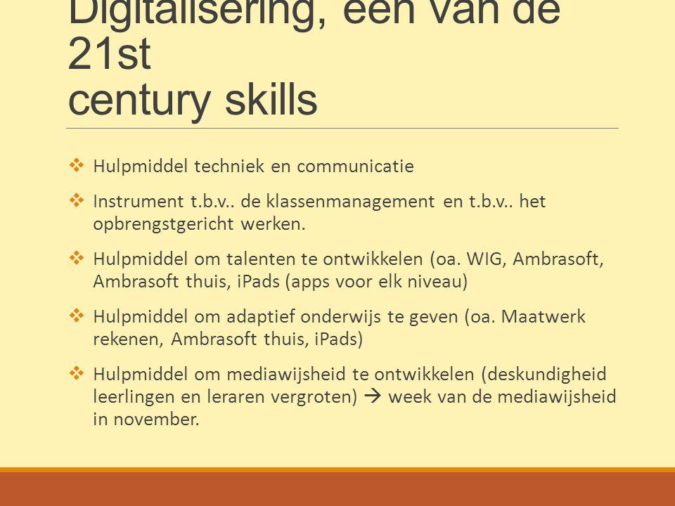 Digitalisering, één van de 21st century skills
