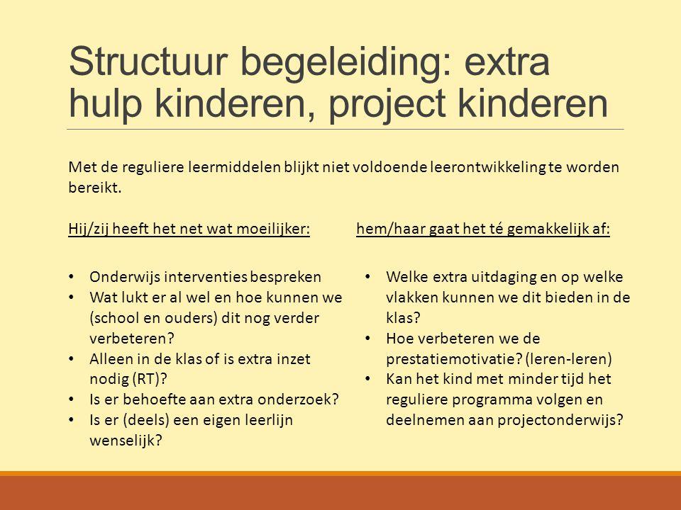 Structuur begeleiding: extra hulp kinderen, project kinderen
