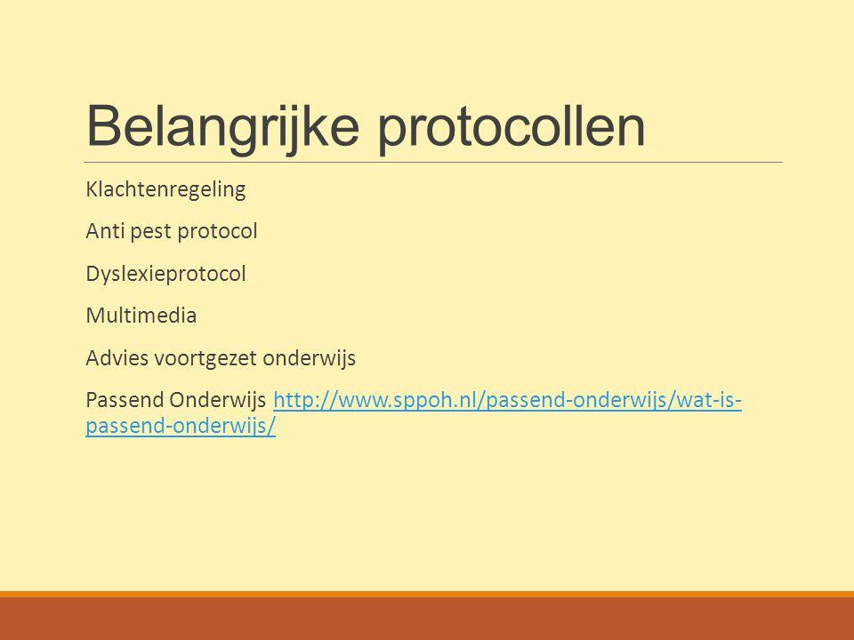 Belangrijke protocollen
