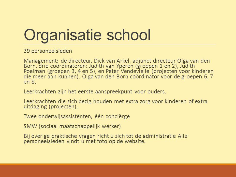 Organisatie school 39 personeelsleden