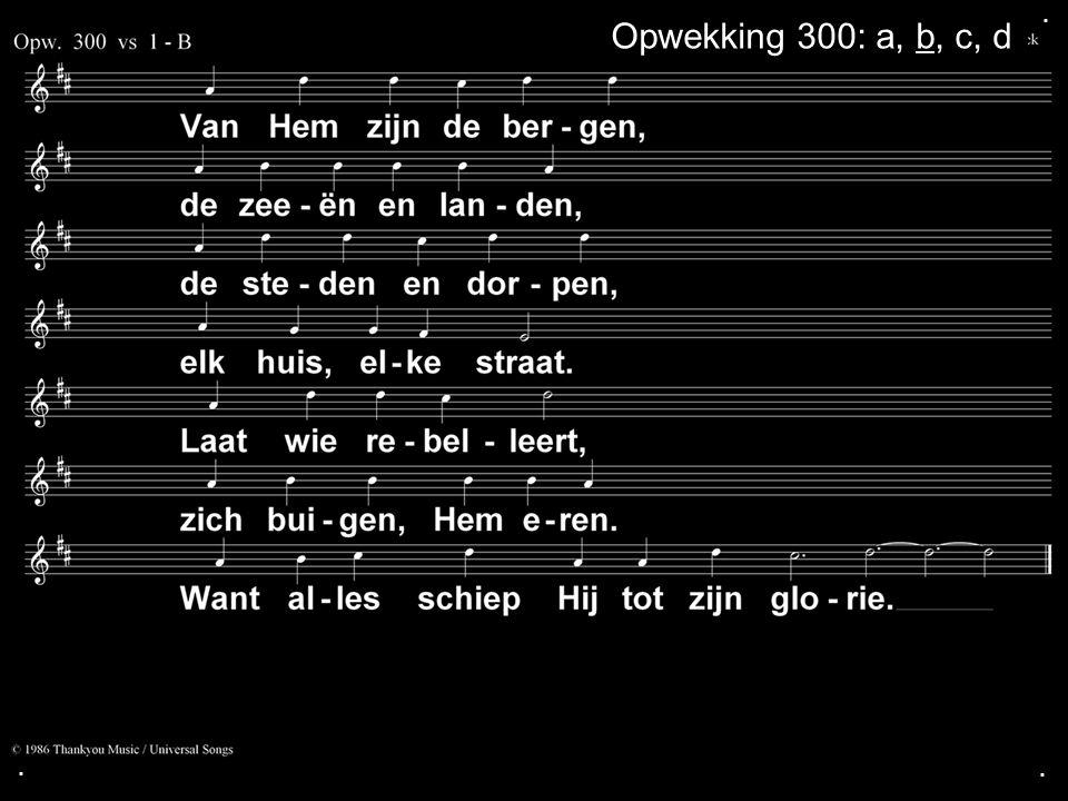 . Opwekking 300: a, b, c, d . .