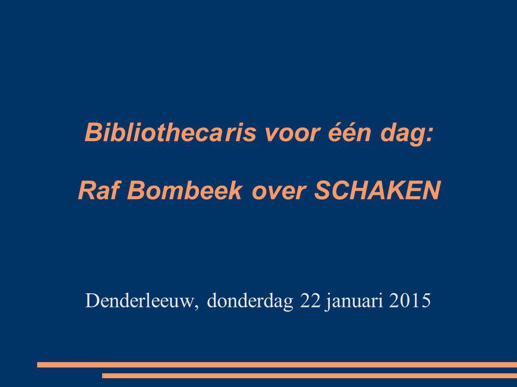 Bibliotheca ris voor één dag: Raf Bombeek over SCHAKEN