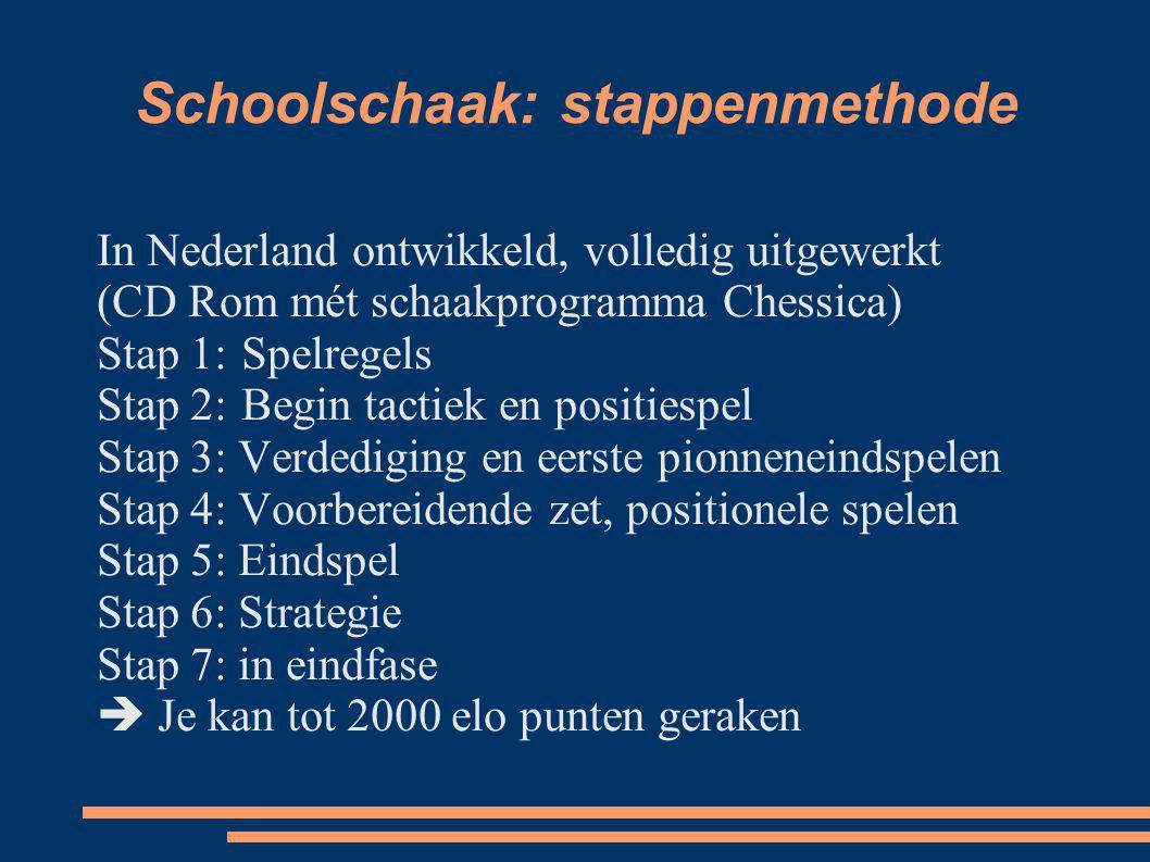 Schoolschaak: stappenmethode