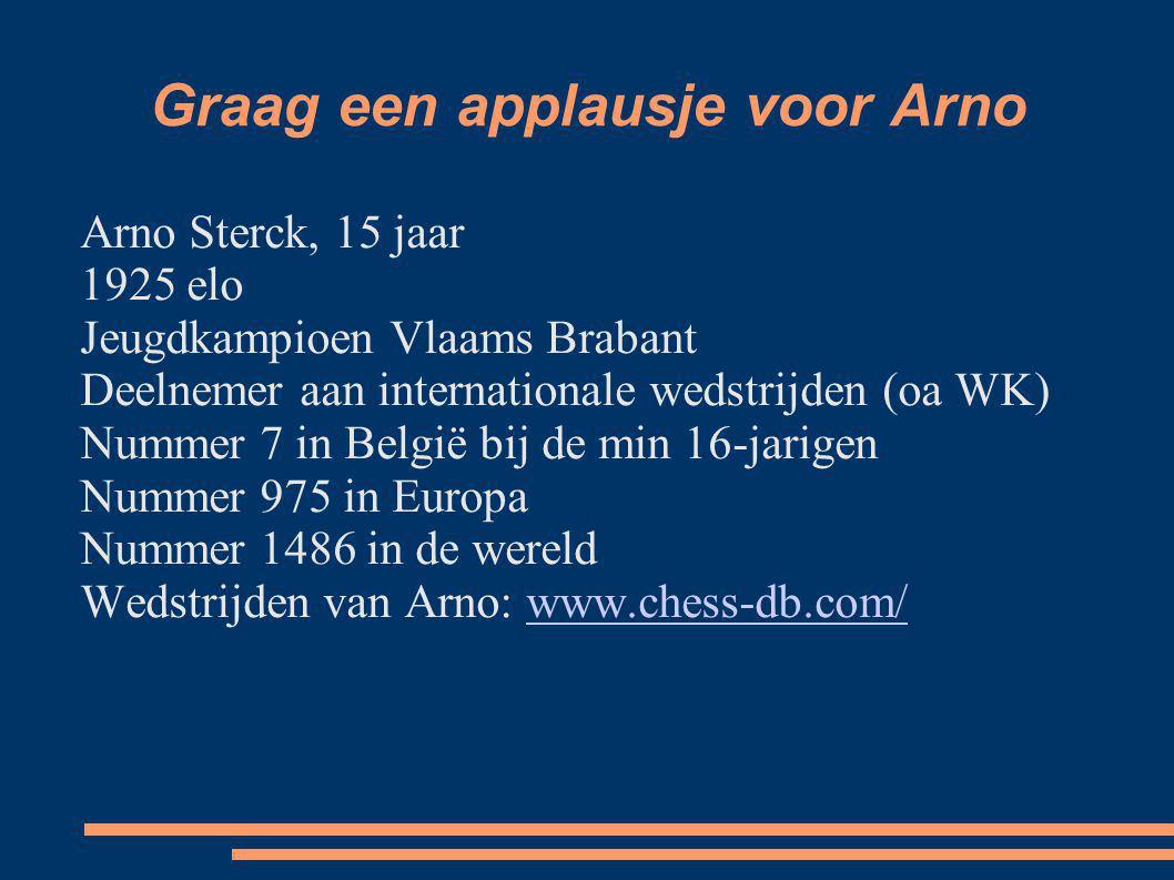 Graag een applausje voor Arno