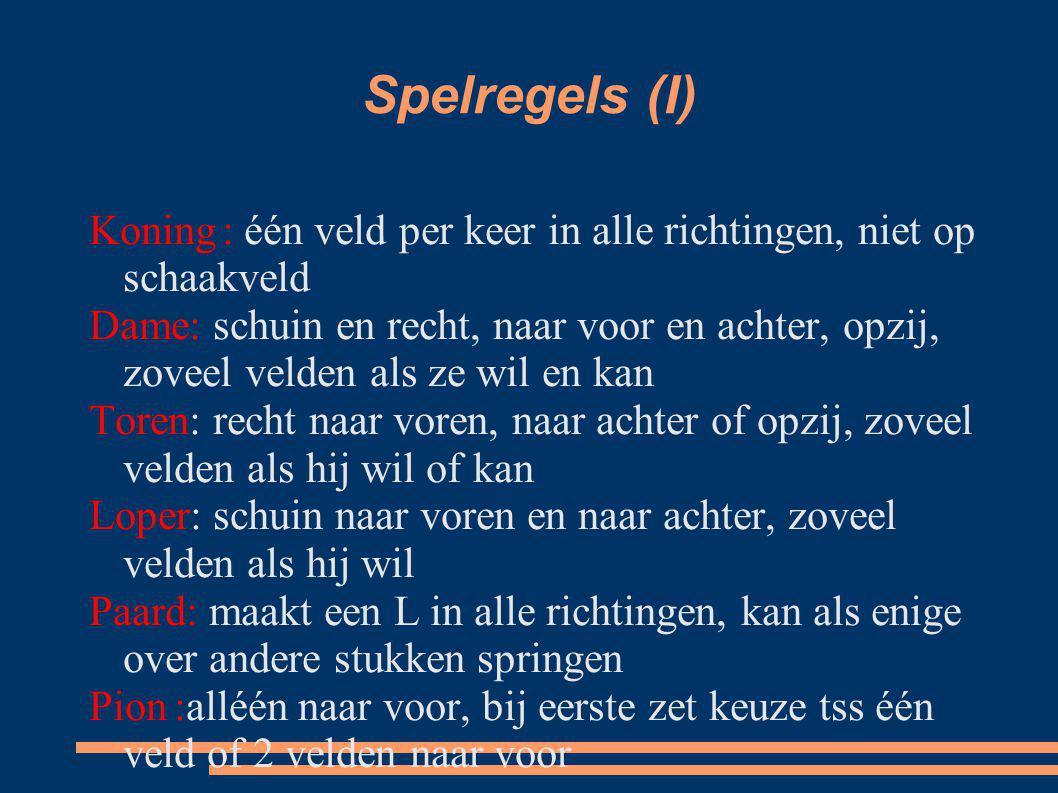 Spelregels (I)