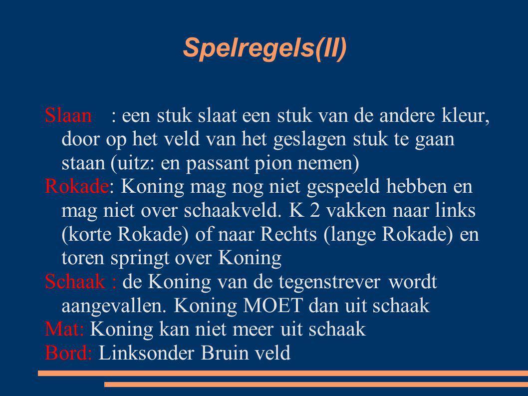Spelregels(II)