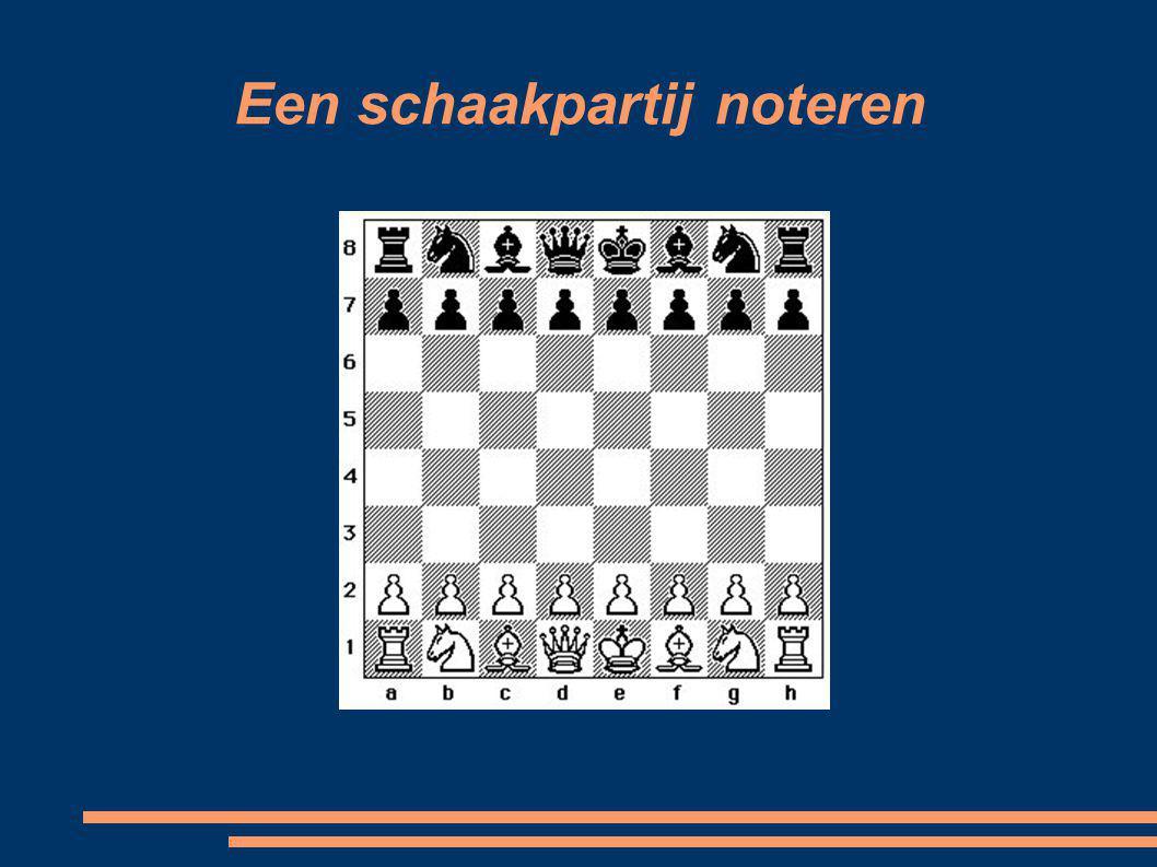 Een schaakpartij noteren