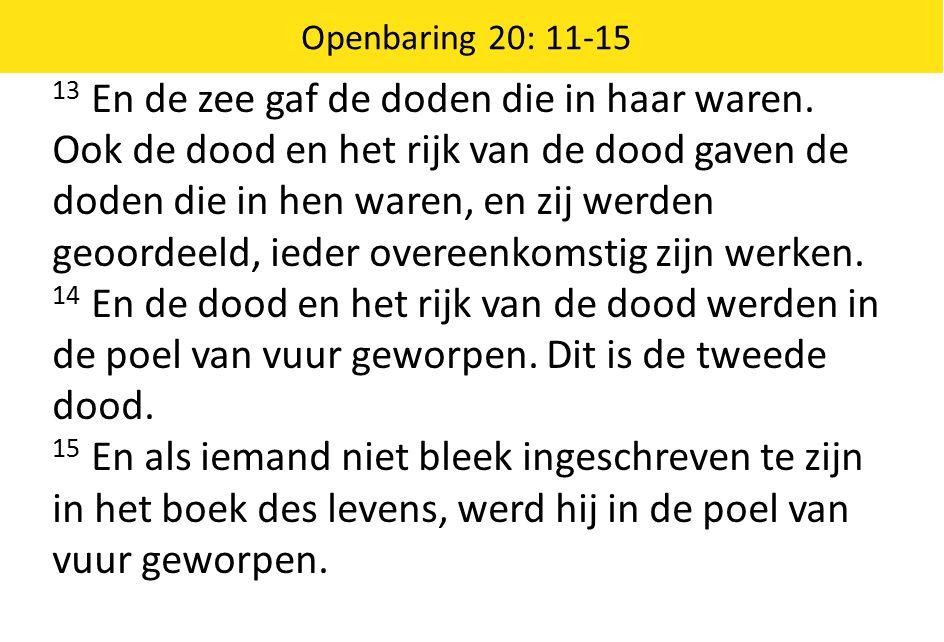Openbaring 20: 11-15