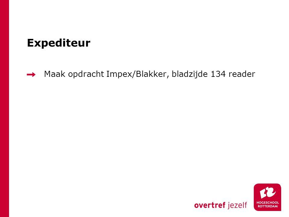 Expediteur Maak opdracht Impex/Blakker, bladzijde 134 reader